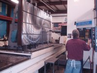 "With our large boring mill and Blanchard grinder, we built a 48"" X 96"" bolster plate for a 600-ton press."