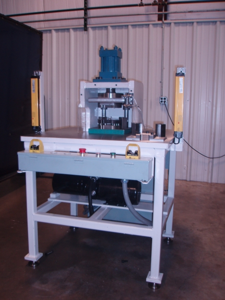 A view of an assembly machine designed, built, and programmed at JTD.
