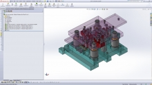 Logopress3 and SolidWorks work together to create a very powerful 3D die design package